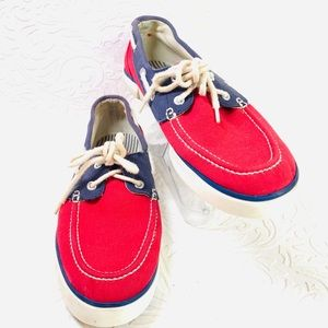 Polo Lander red blue canvas relax sneakers 10.5